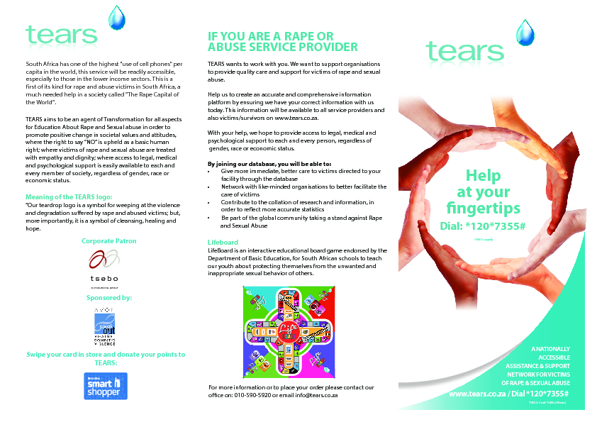 Tears leaflet   print tc's 7 oct 2013